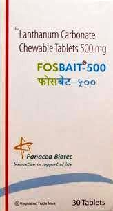 Fosbait 500mg Tablet 30`s : Uses, Price, Benefits, Side