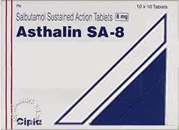 ASTHALIN SA 8MG TABLET
