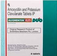 AUGMENTIN TABLET 625MG DUO 10`S